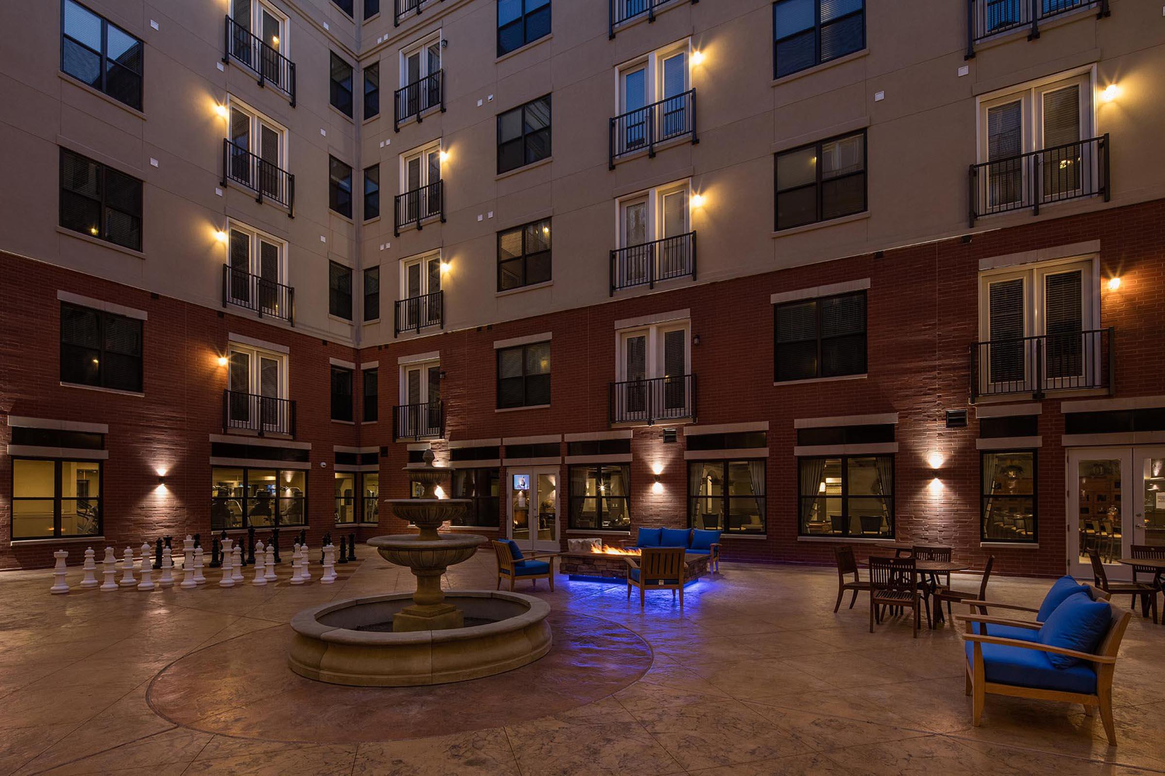 The Orion Apartments in Central West End - St. Louis, MO - Courtyard 01.jpg