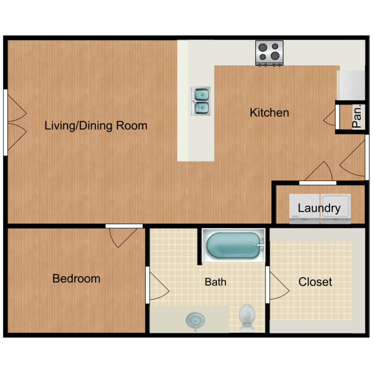Floor plan image of 1 Bed C