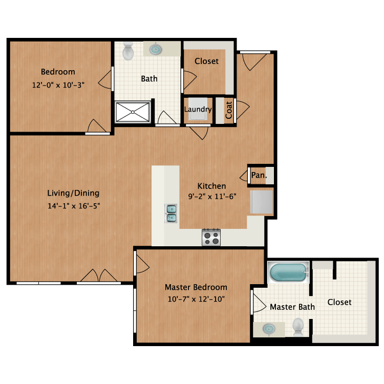 Floor plan image of Furnished Plan B