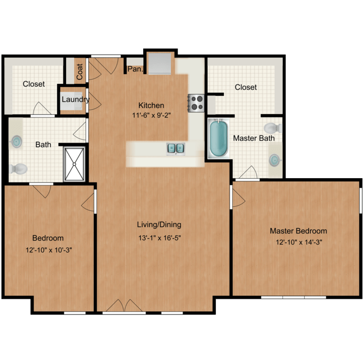 Floor plan image of Furnished Plan C