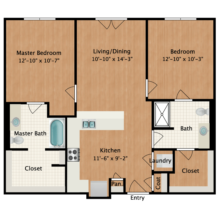 Floor plan image of Furnished Plan A