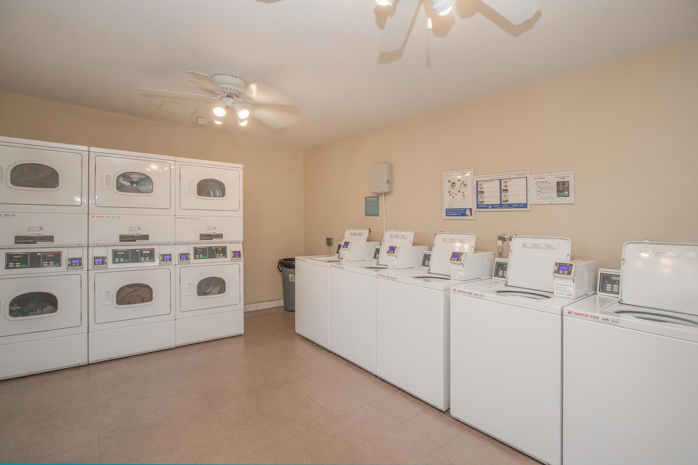 Washers and dryers in the laundry room