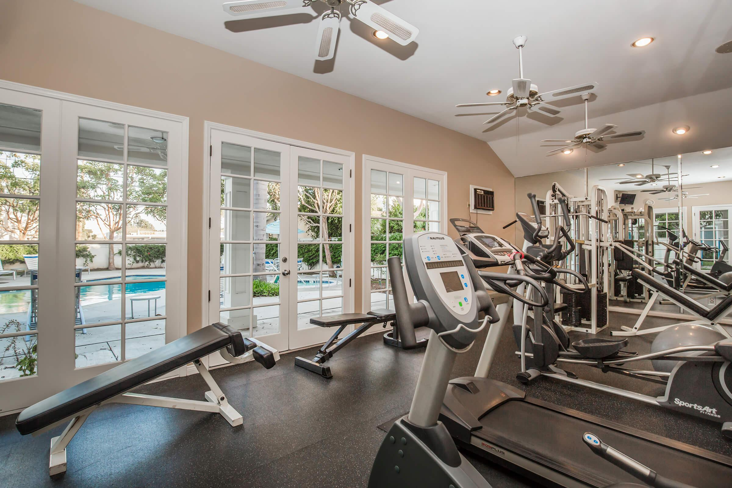 Work-out equipment in the gym