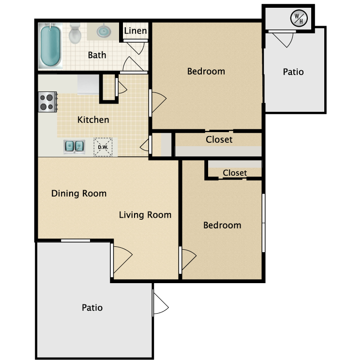 Floor plan image of 2x1 Jr