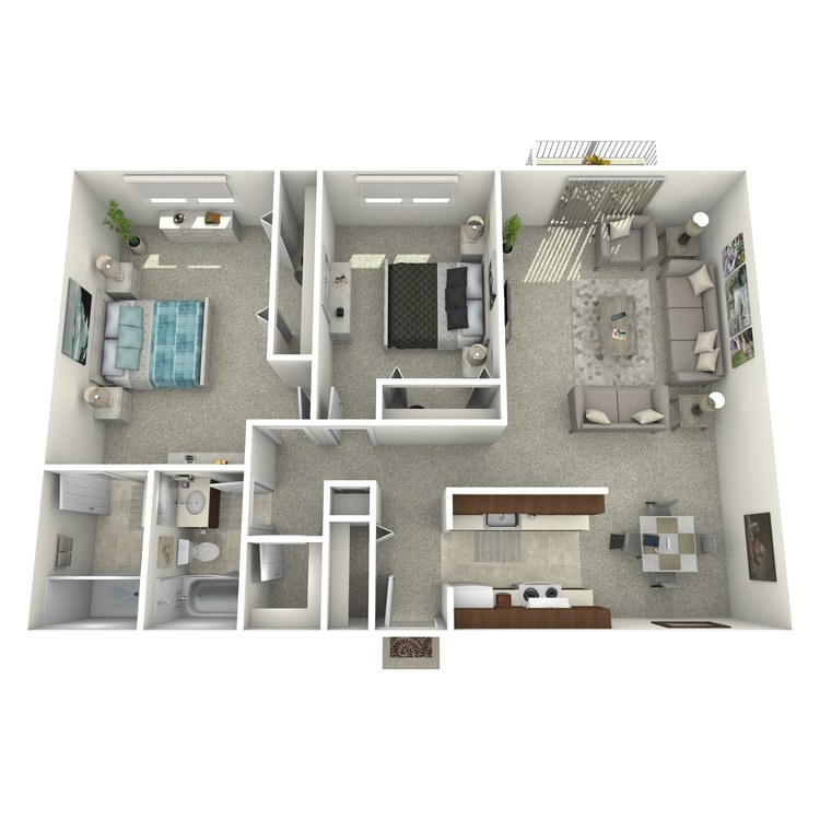 Floor plan image of Two Bedroom B2