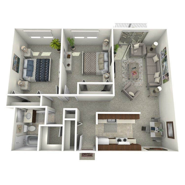 Floor plan image of Two Bedroom B1