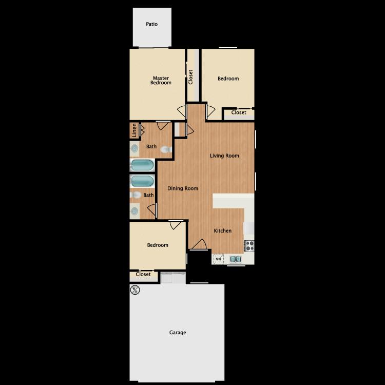 Floor plan image of Floor Plan B