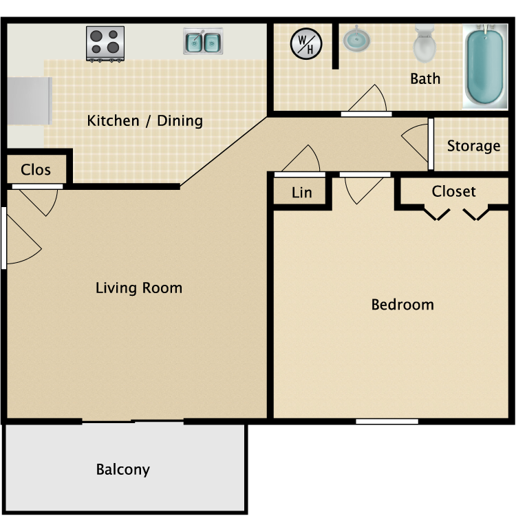 1 Bed 1 Bath. Hunter Chase   Availability  Floor Plans   Pricing