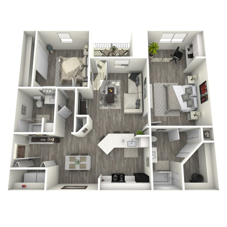 Floor plan image of The Hill Country w/Office