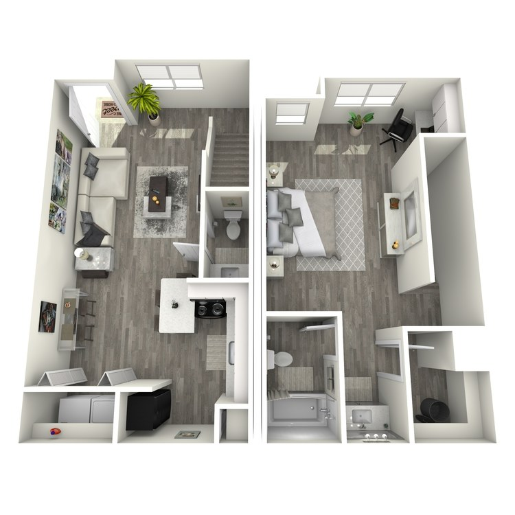 Floor plan image of The Lone Star Townhome w/Office