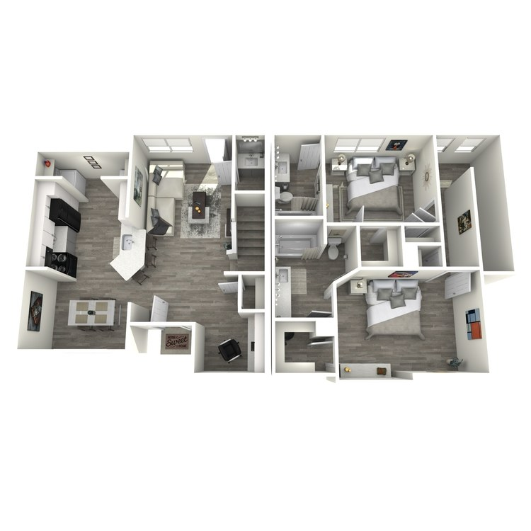 Floor plan image of The Texas Star Townhome w/Office