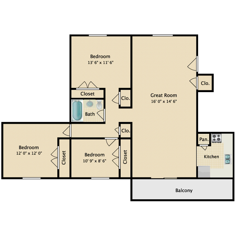 Floor plan image of The Dogwood
