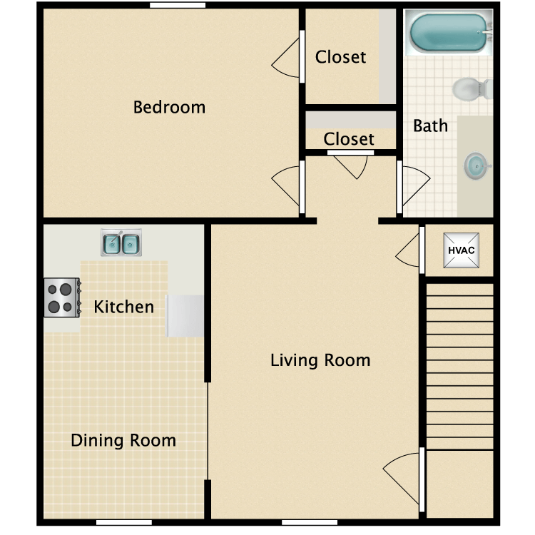 Floor plan image of One Bedroom Flat