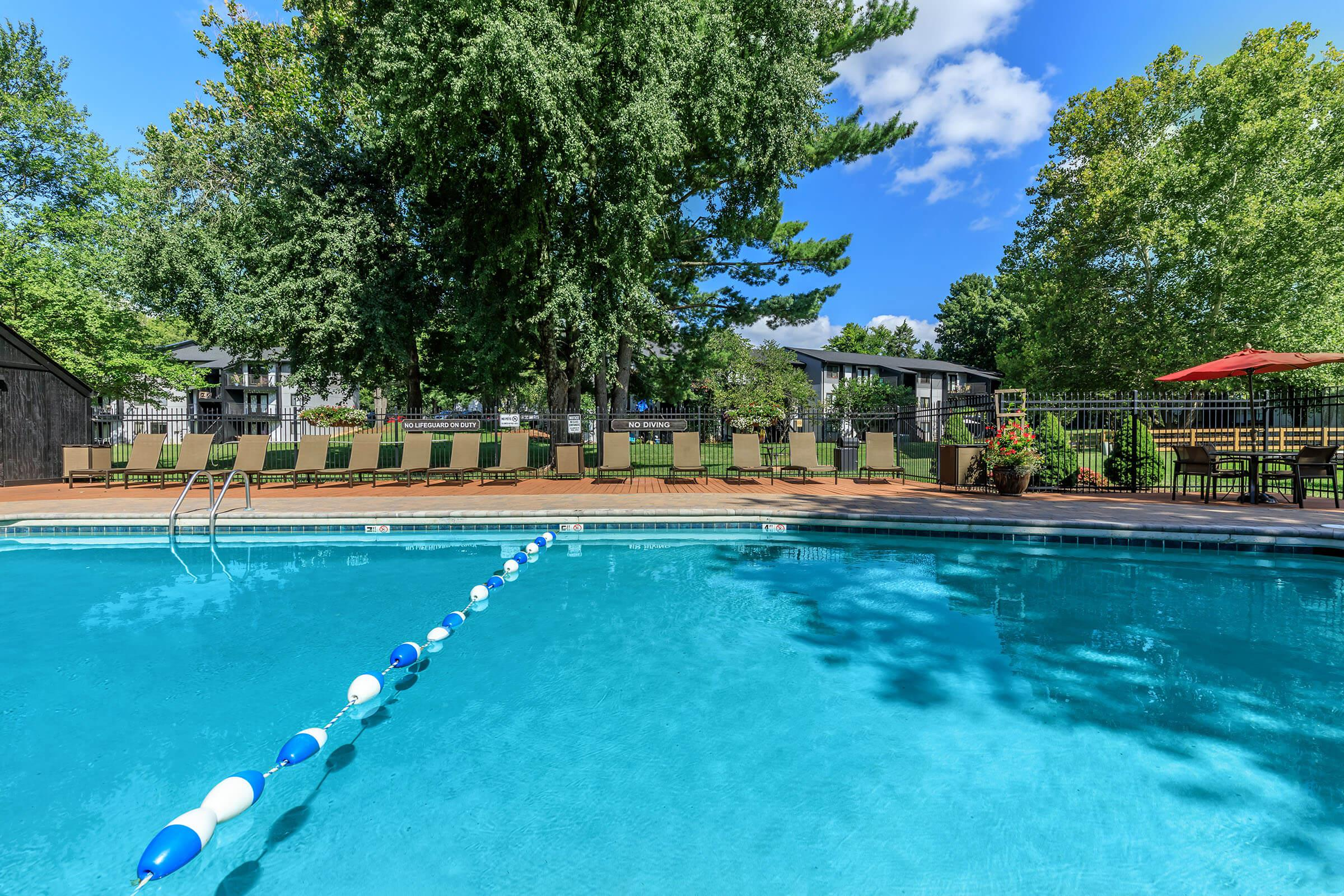 Water is so Blue in our Shimmering Swimming Pools at Brendon Park Apartments