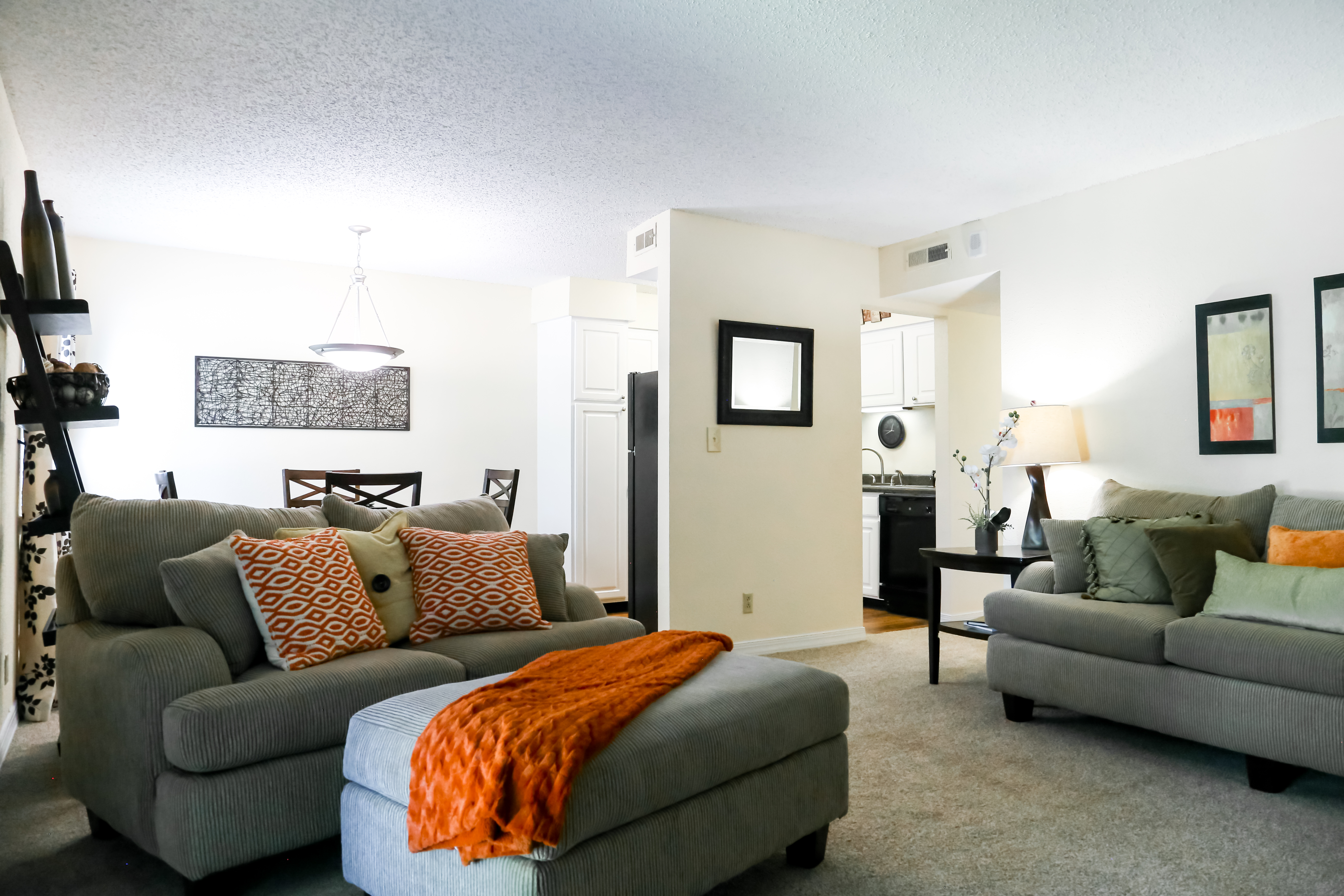 Living room at Brendon Park Apartments