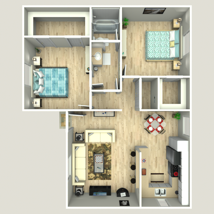 Furnish This Floor plan Dominion Square Apartments