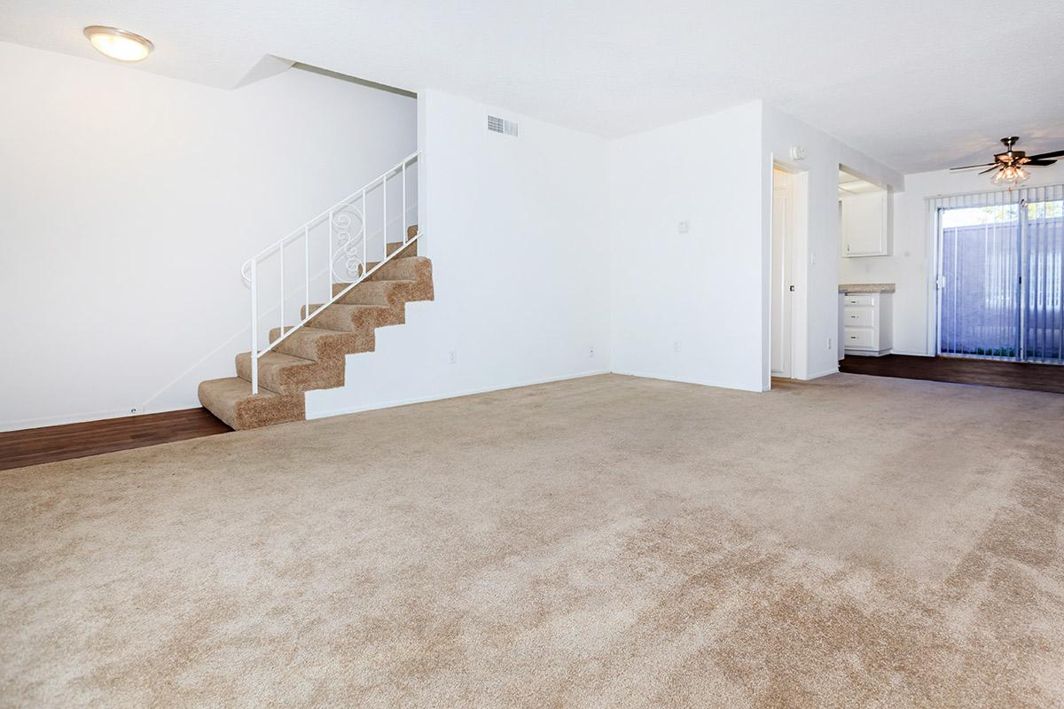 Living room with stairs