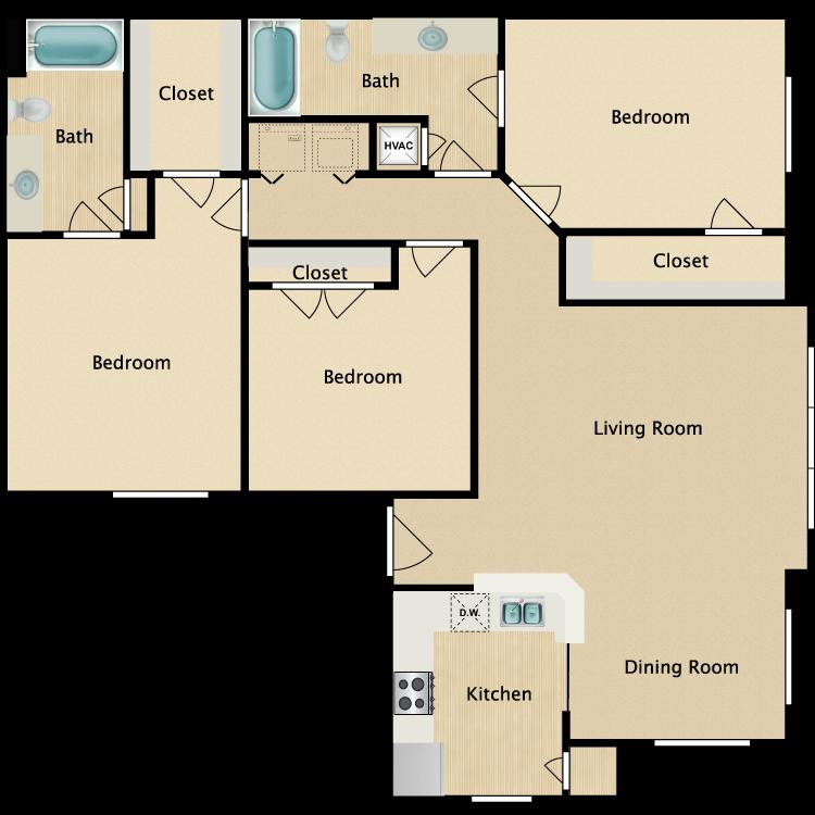Plan C1 floor plan image