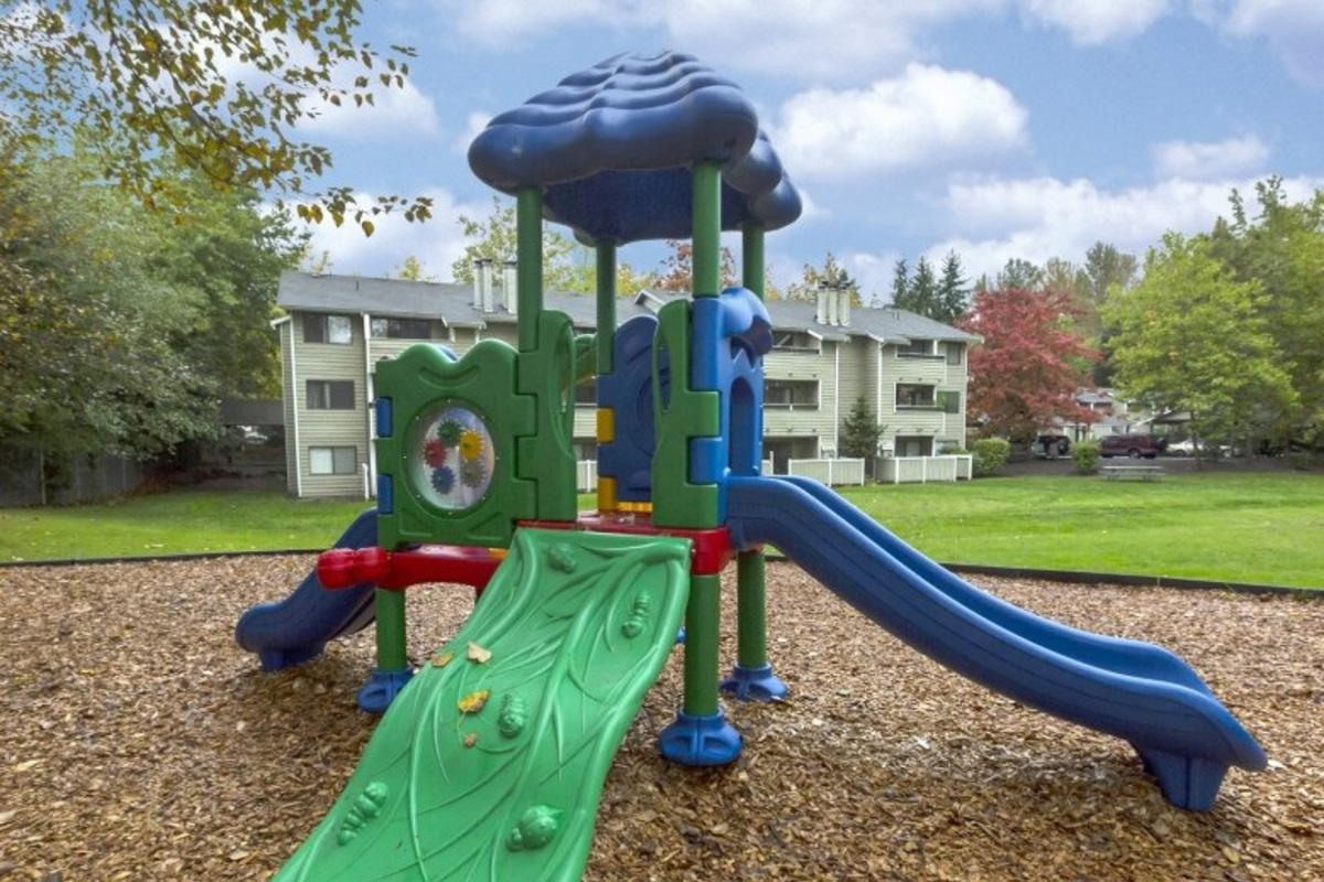 a playground in a park
