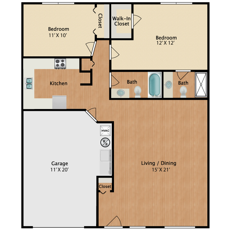 Floor plan image of The Canary