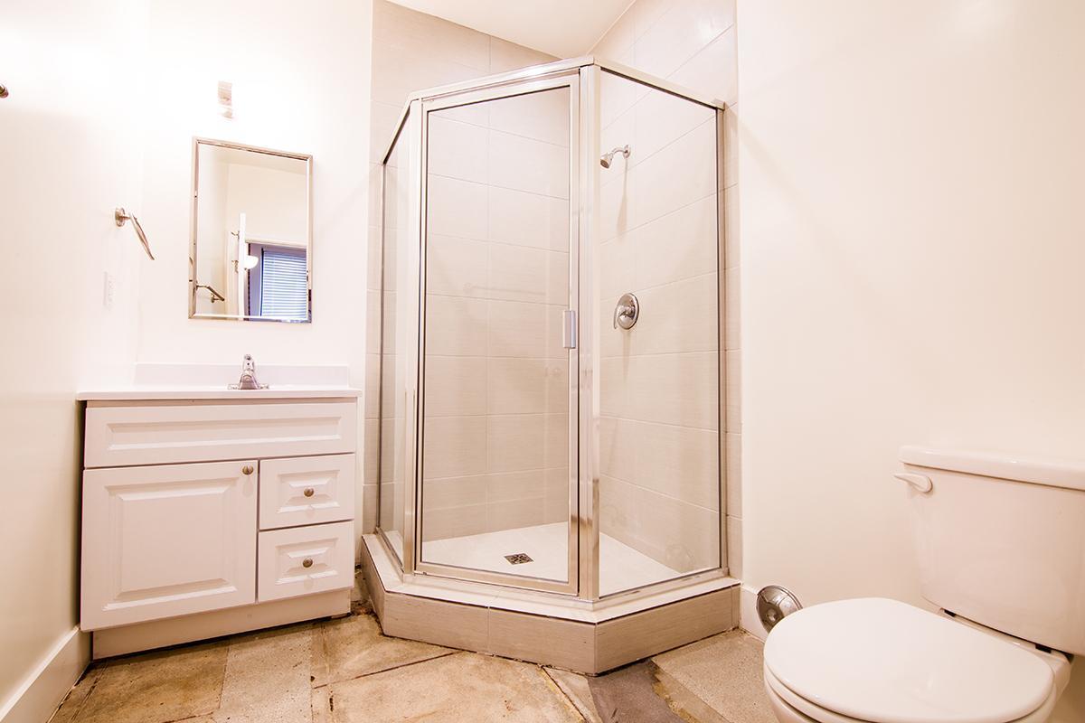 Elegant bathroom at Ancelle in Los Angeles, CA