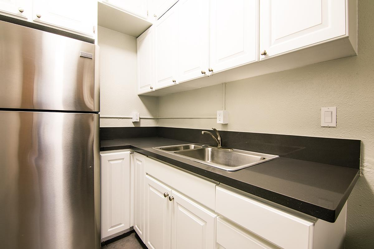 Kitchen with ample cabinet space at Ancelle in Los Angeles, CA