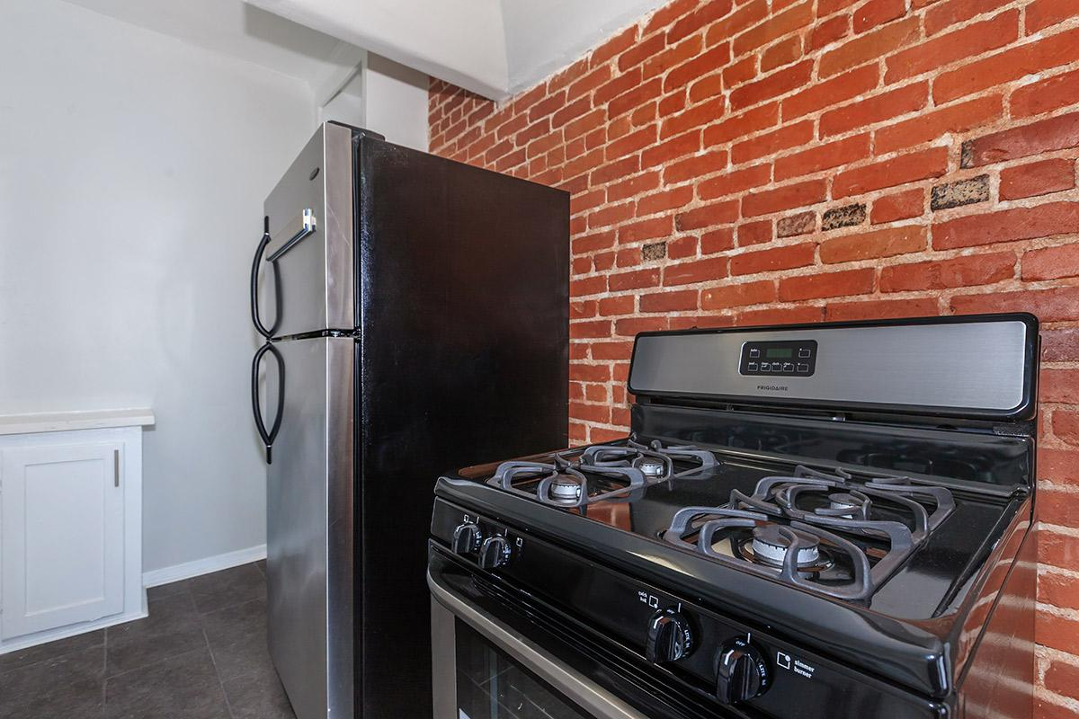 Stainless steel appliances at Ancelle