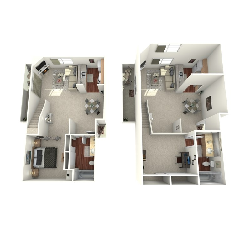 Floor plan image of Unit B with Loft