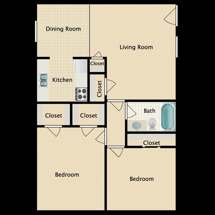 Floor plan image of D