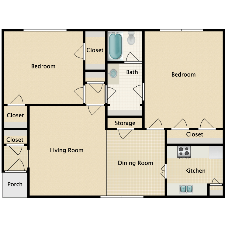 Floor plan image of I