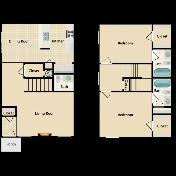 Floor plan image of M