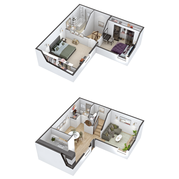 Floor plan image of B3 Townhome