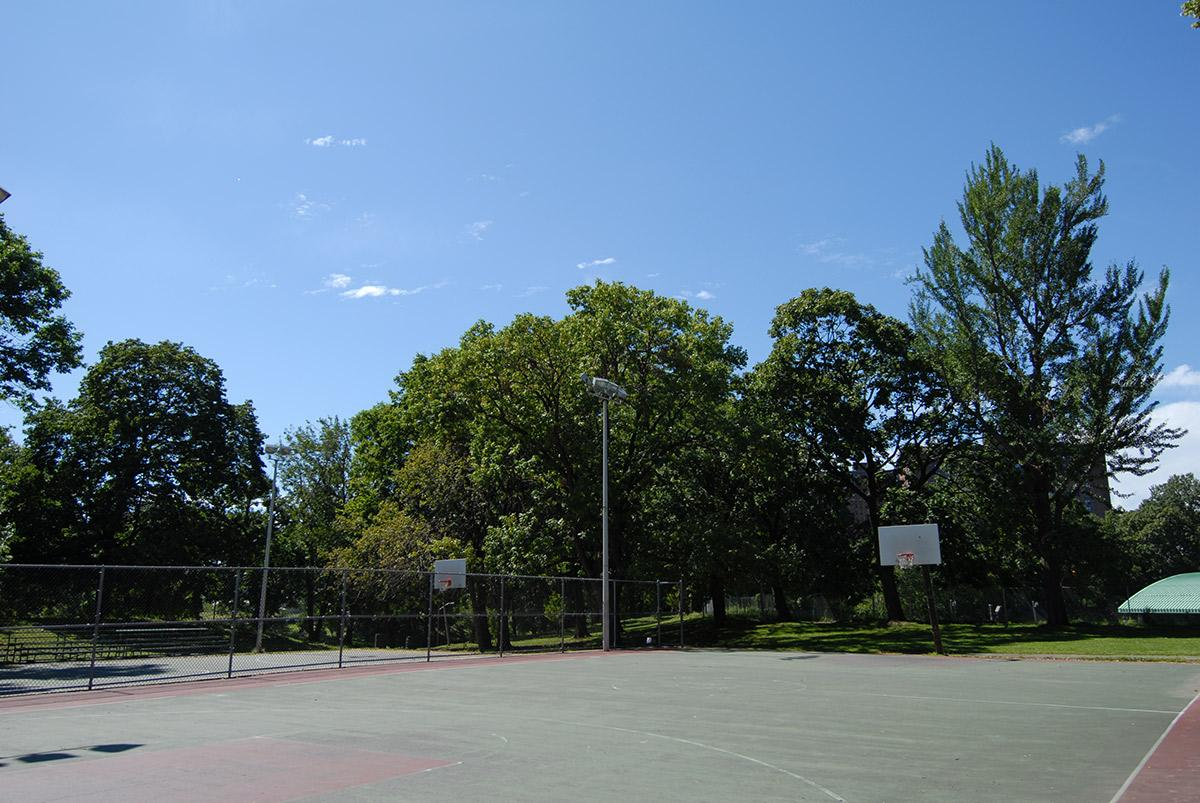 a basketball court