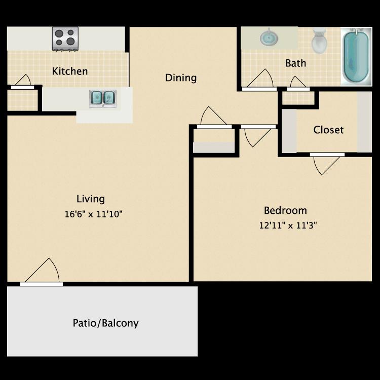 Floor plan image of Heidi