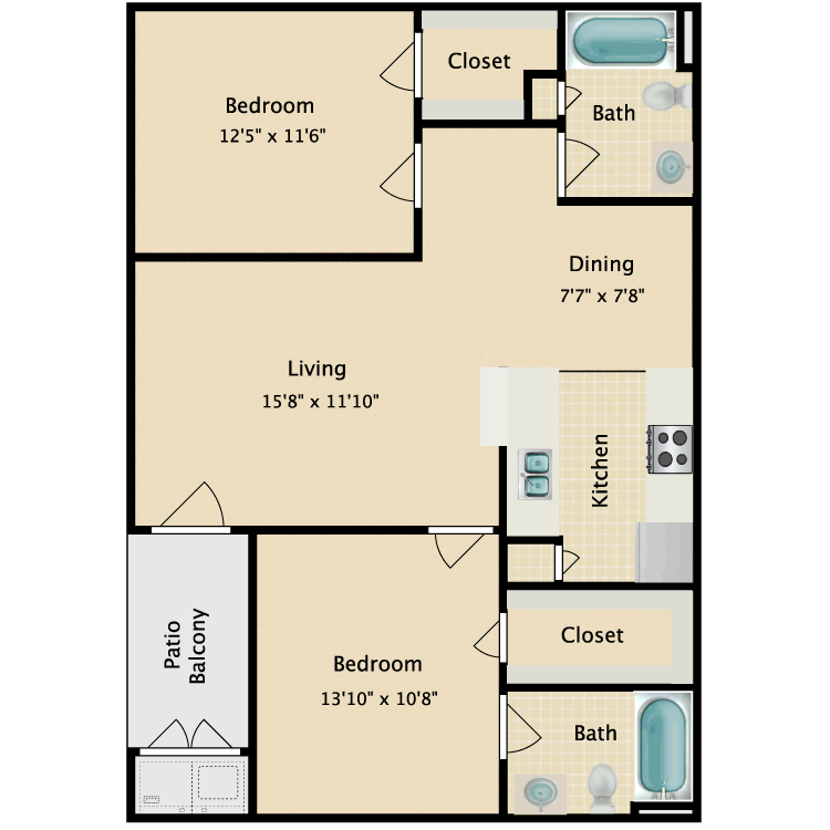 Floor plan image of Kimberly
