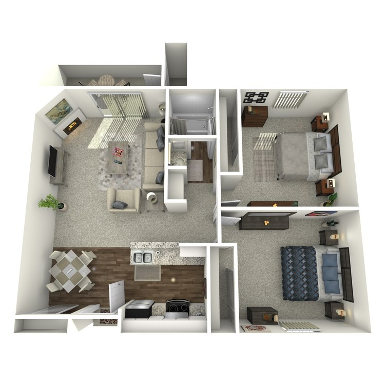 Floor plan image of 2 Bed 1 Bath A