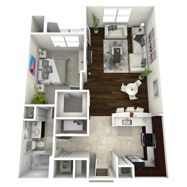 Floor plan image of The Bohemia
