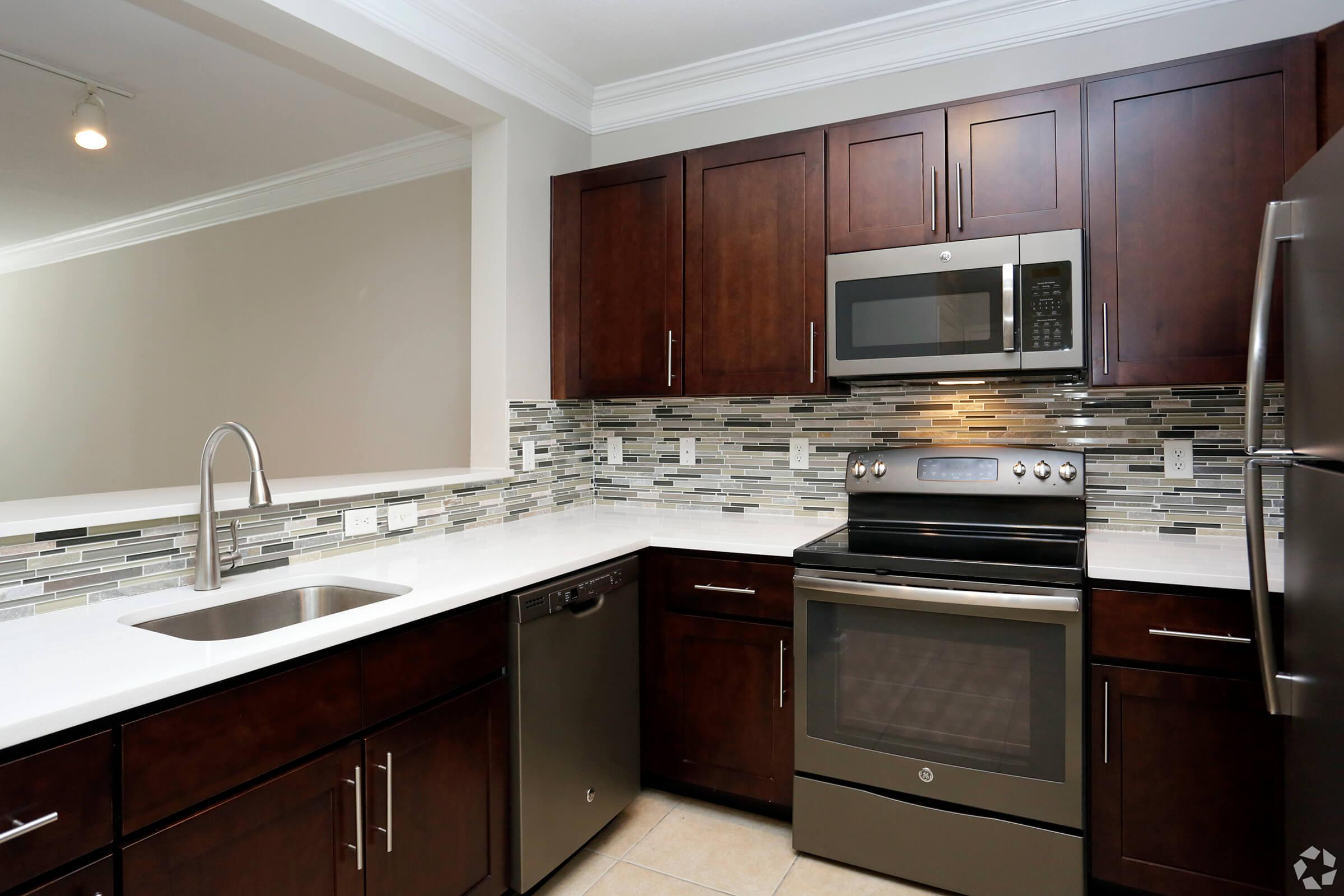 Kitchen at Emerson at Cherry Lane Apartments in Laurel, MD