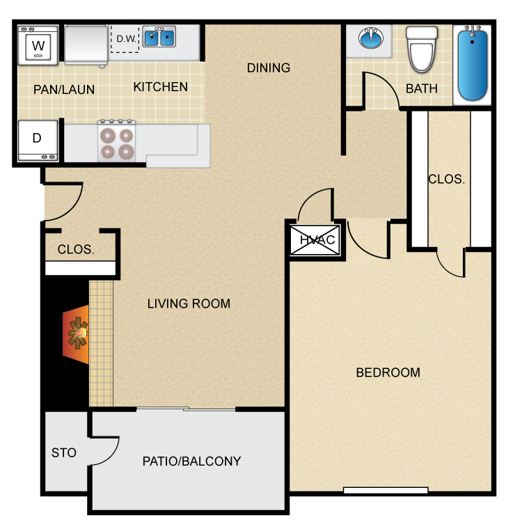 Floor plan image of Manhattan