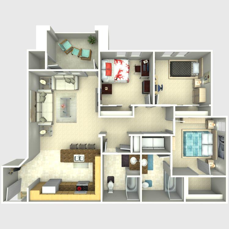 Floor plan image of 3 Bedroom