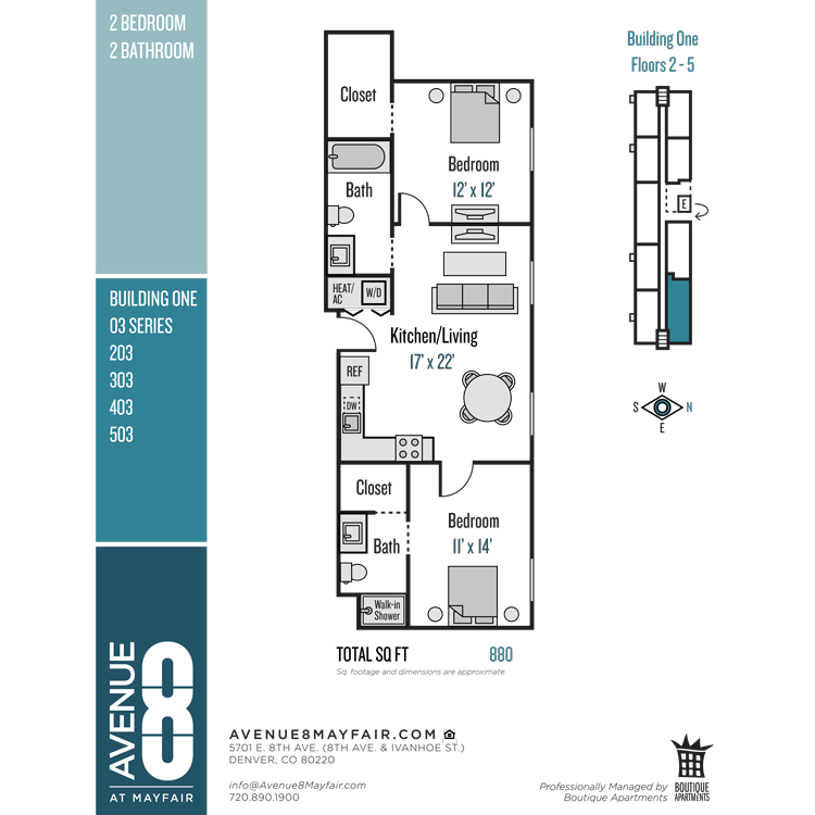 Floor plan image of 2 Bed 2 Bath 03 Series