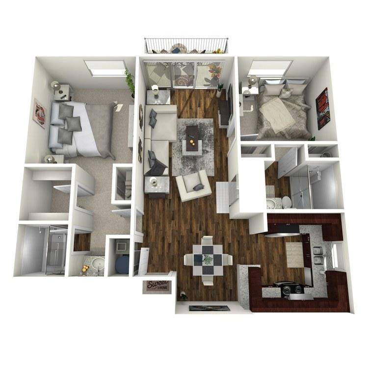 Floor plan image of Copenhagen