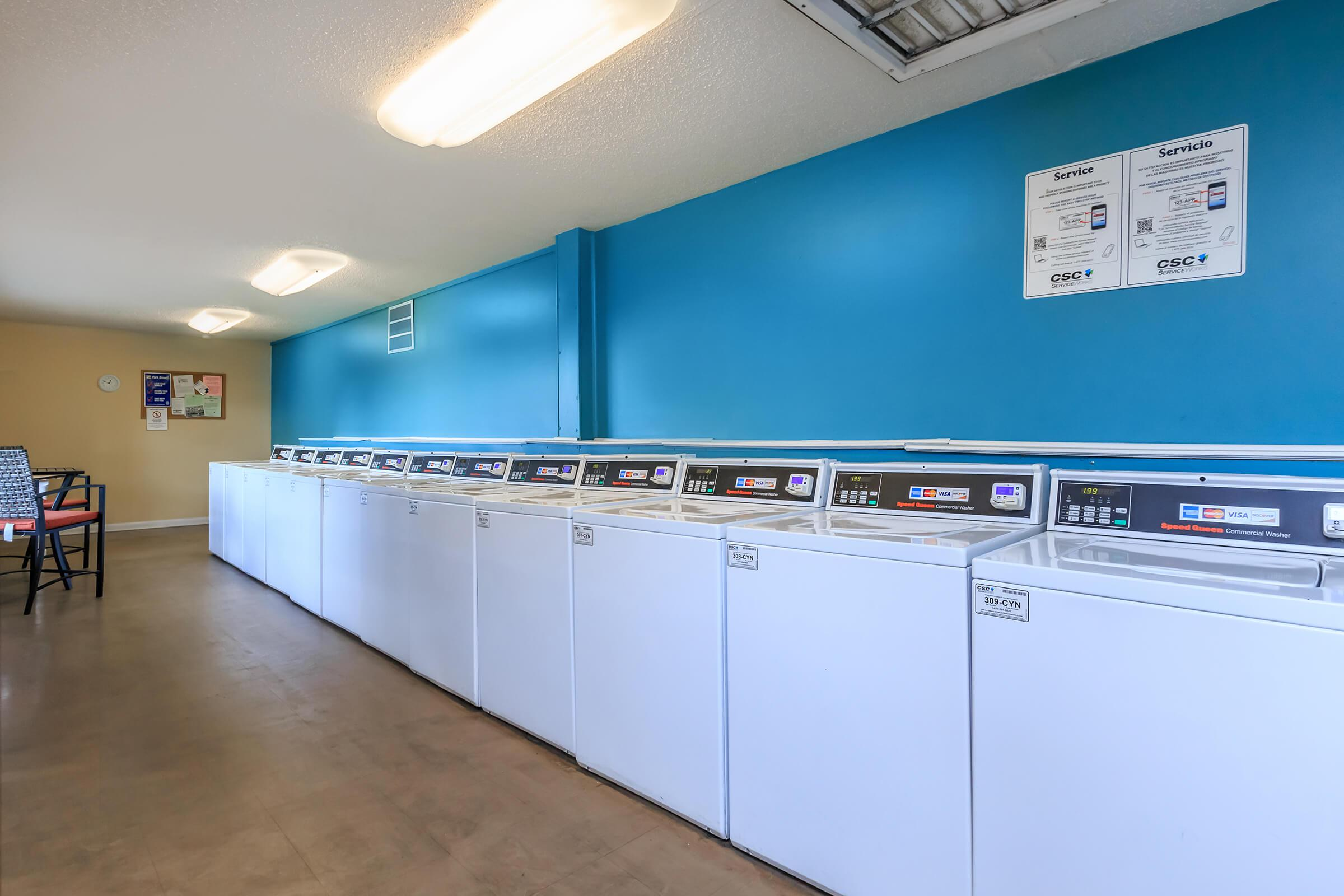 convenient laundry facility at Sunrise Apartments in Nashville, Tennessee