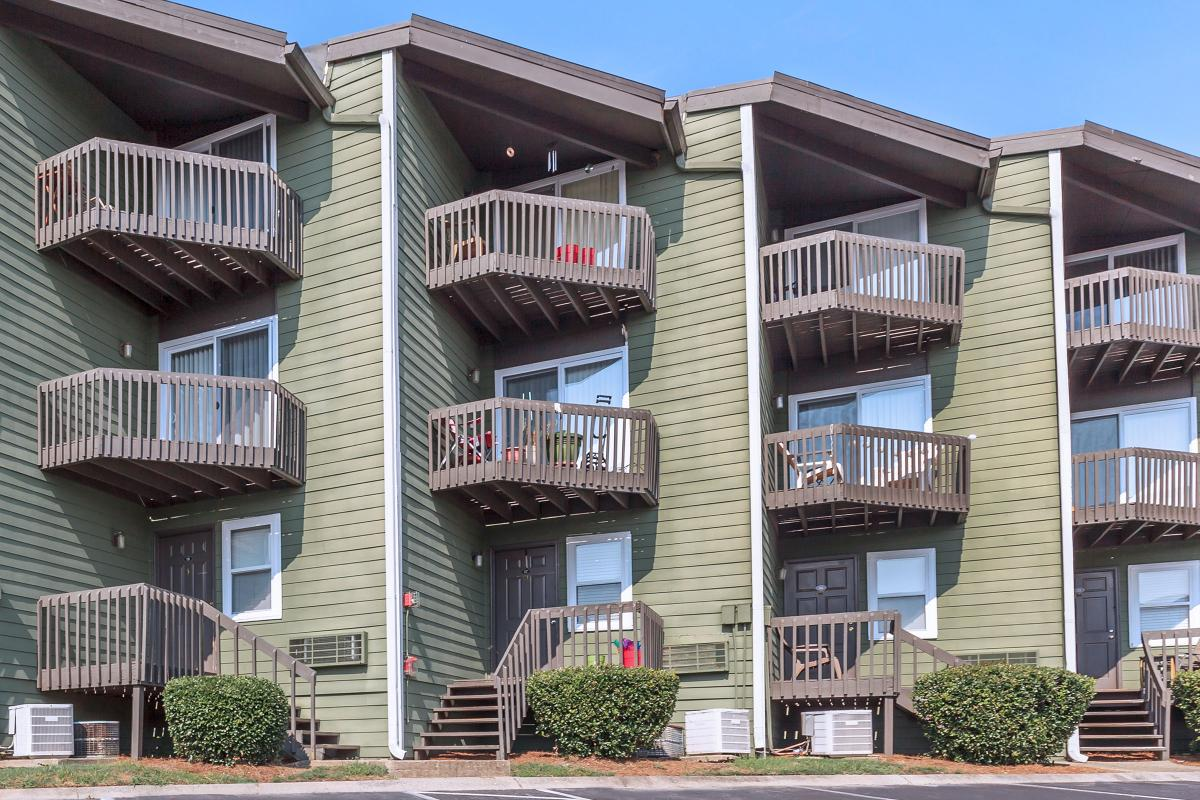 One Bedroom Summit Floor Plan Personal Balcony or Patio at Sunrise Apartments