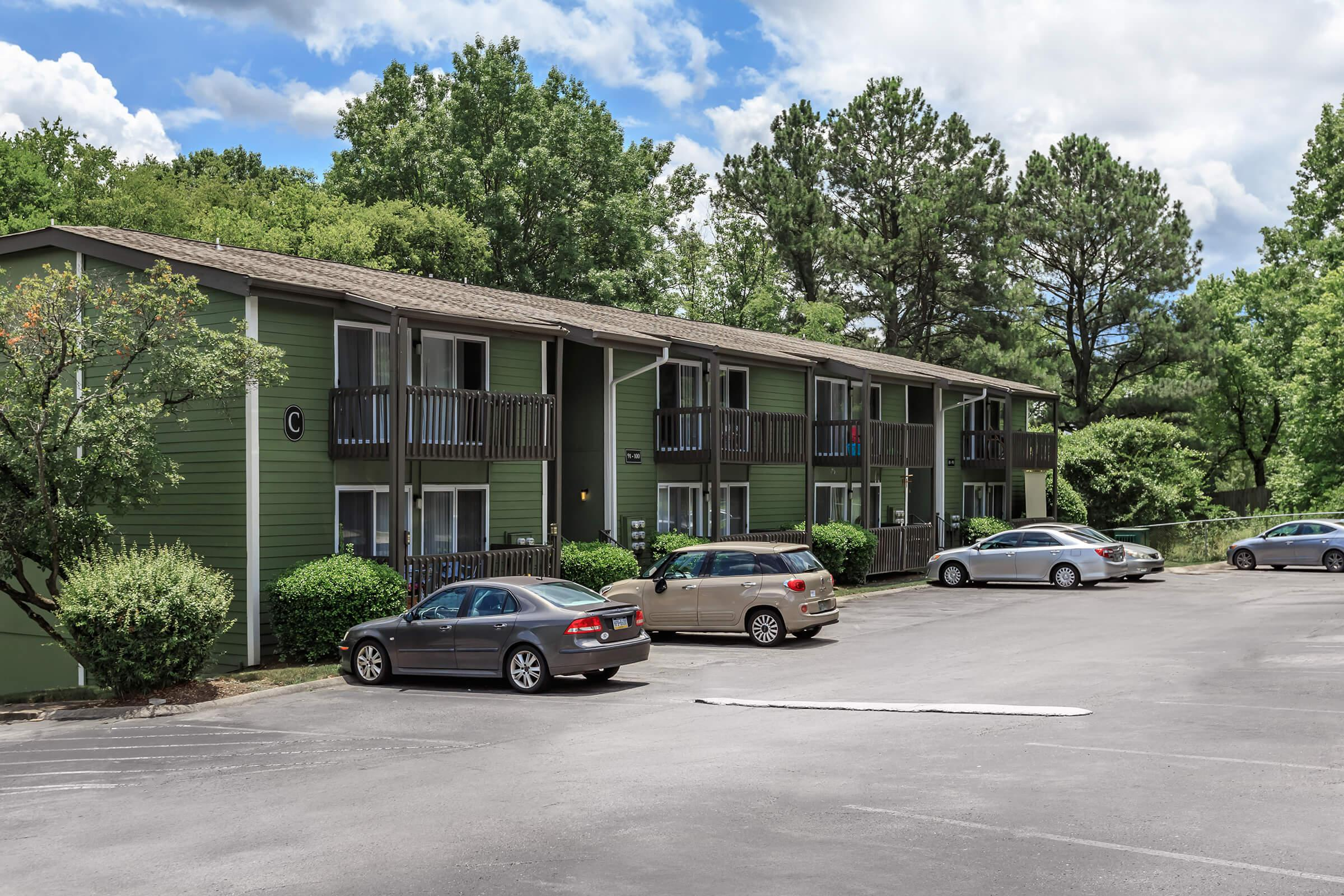 plenty of parking space at Sunrise Apartments in Nashville, Tennessee