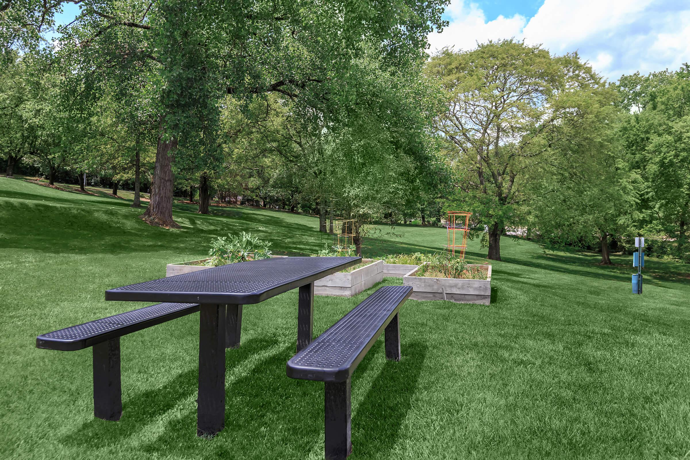 relax with a yummy picnic at Sunrise Apartments in Nashville, Tennessee