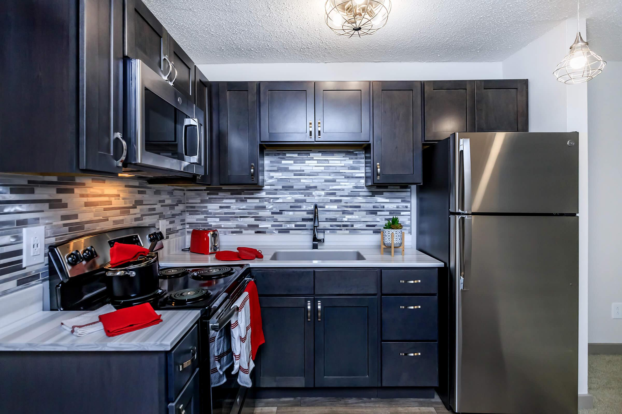 well-equipped kitchen at Sunrise Apartments in Nashville, Tennessee
