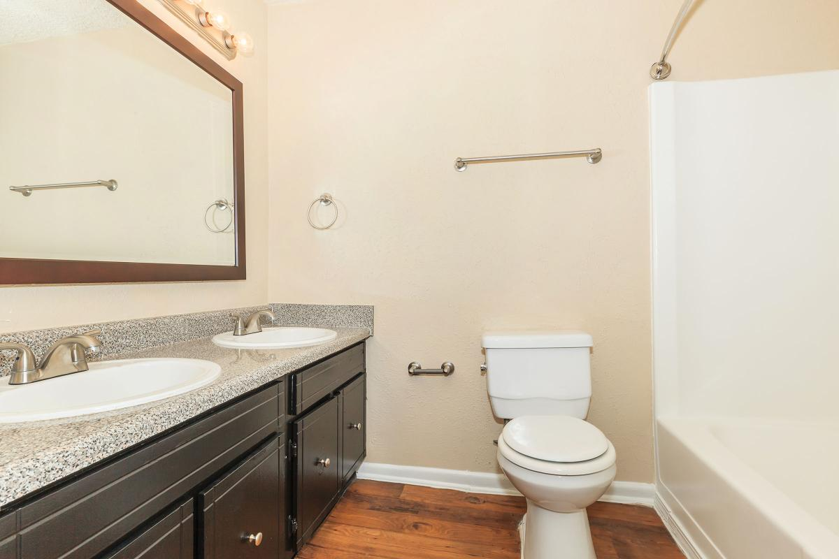 Double Sink Vanity at Sunrise Apartments in Nashville
