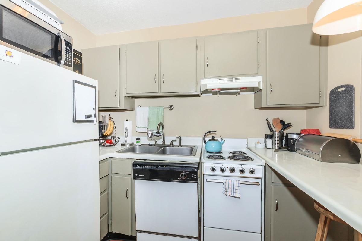 Fully-equipped Kitchen in Summit Floor Plan at Sunrise Apartments