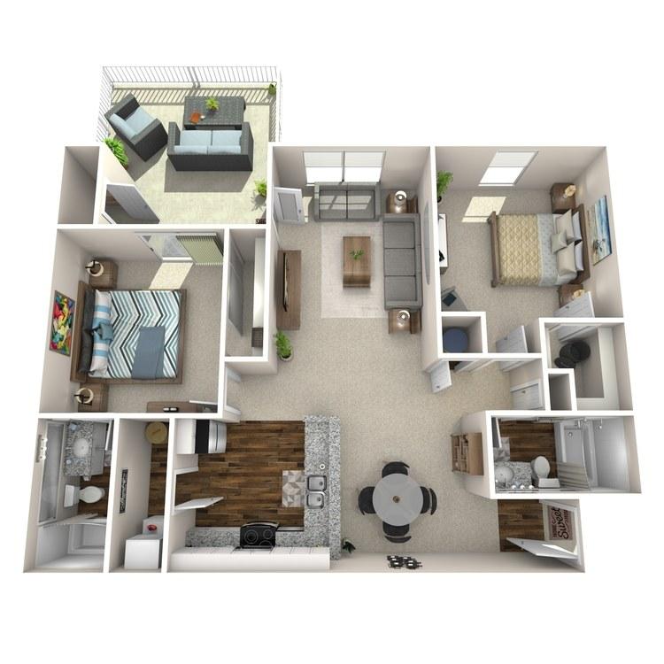Floor plan image of B3 Castle Point